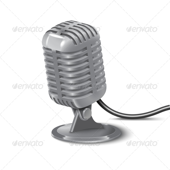 GraphicRiver Vintage Microphone 6732374