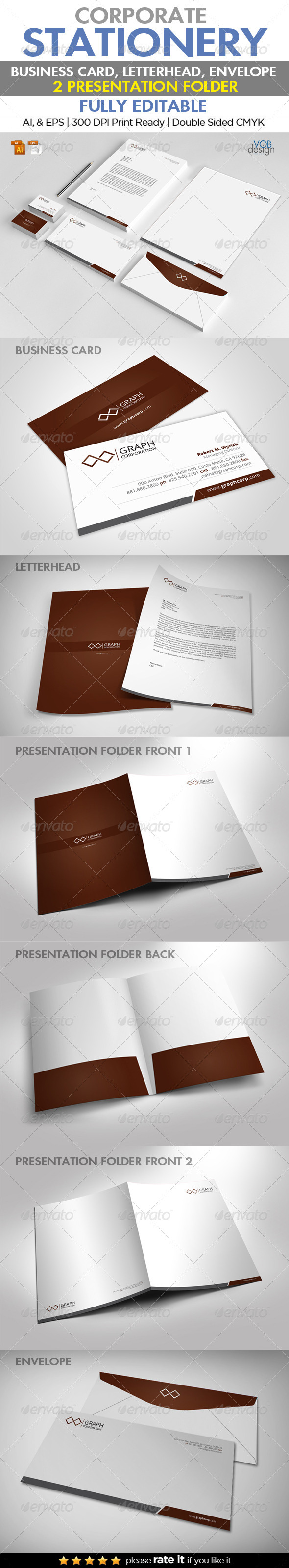 GraphicRiver Corporate Stationery 6732381
