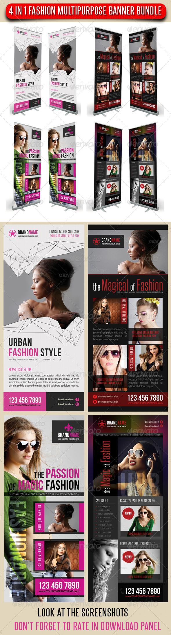 GraphicRiver 4 in 1 Fashion Multipurpose Banner Bundle 06 6732753