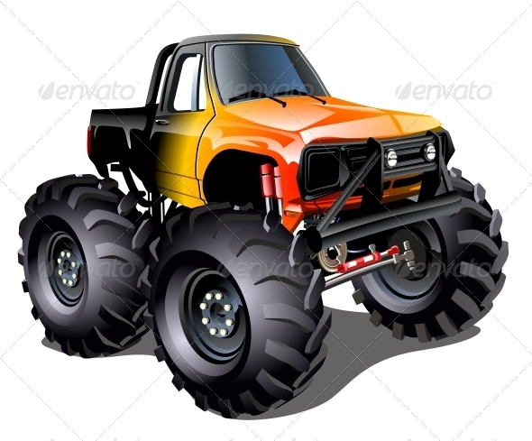 GraphicRiver Cartoon Monster Truck 6732898