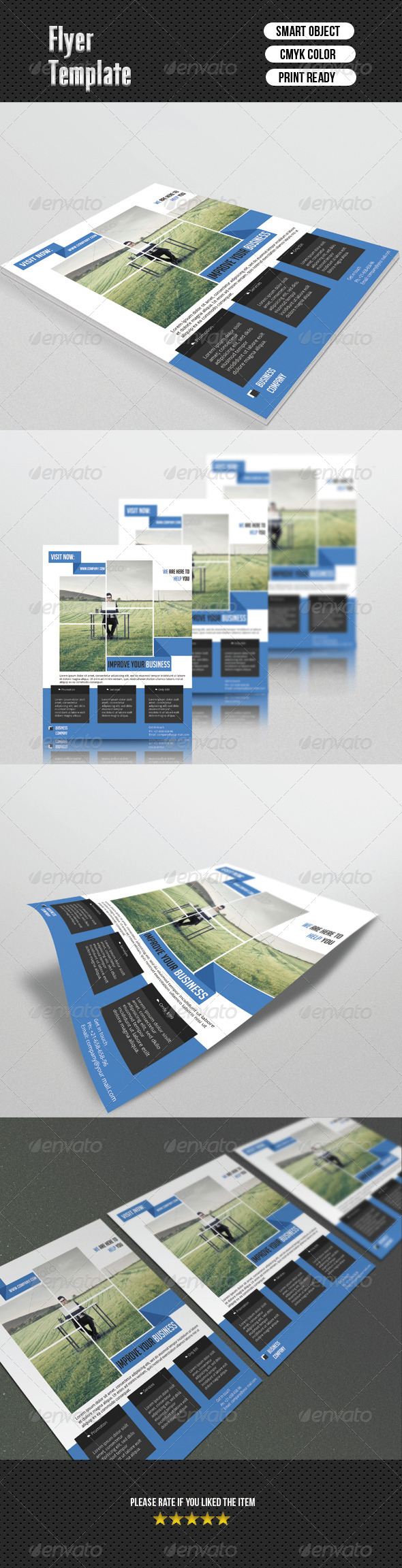 GraphicRiver Corporate Flyer Template 6733355
