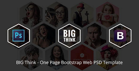 BIG Think One Page Bootstrap Web PSD Template - Portfolio Creative