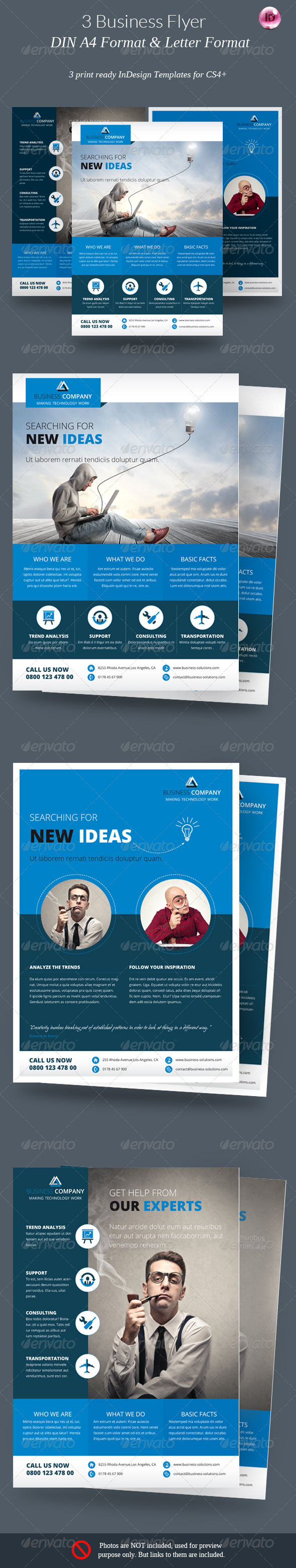 3 Business Flyer - Corporate Flyers