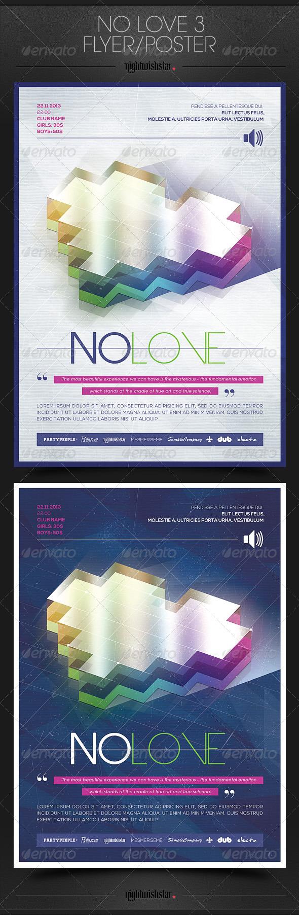 GraphicRiver No Love 3 Valentine Poster Flyer 6734010