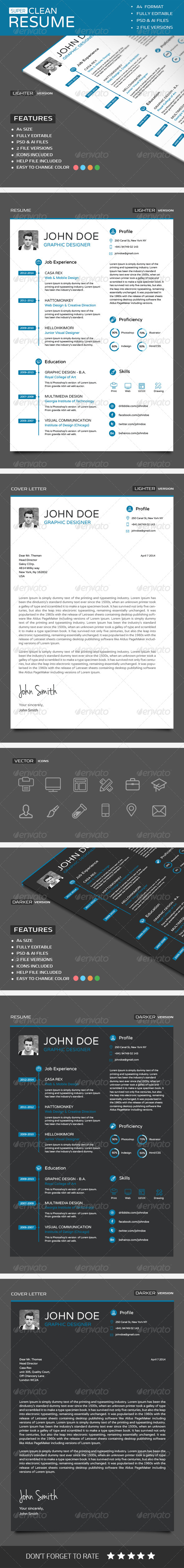 GraphicRiver Super Clean Resume 6734109