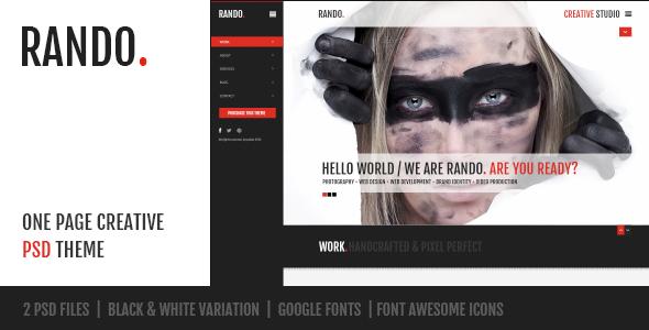 Rando - One Page Creative PSD - Creative PSD Templates