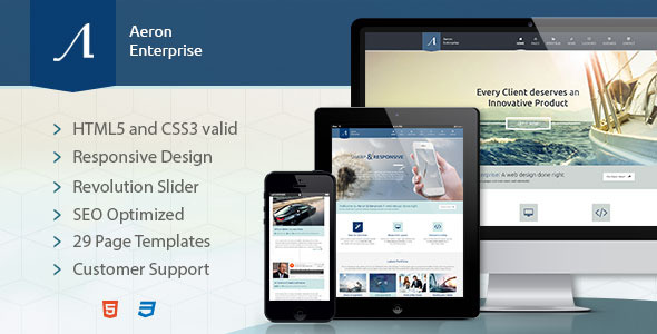 Aeron Enterprise - Responsive Corporate Template