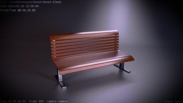 3DOcean public wooden bench 6734722