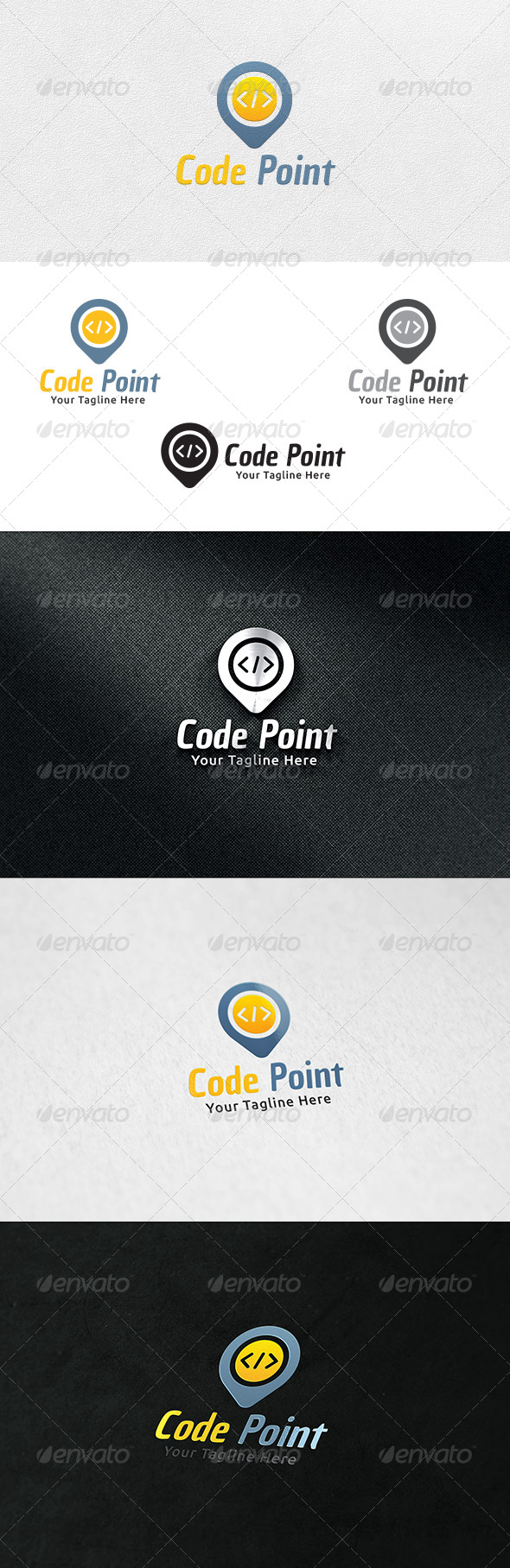 GraphicRiver Code Point Logo Template 6734768