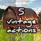Vintage 5 actions - GraphicRiver Item for Sale