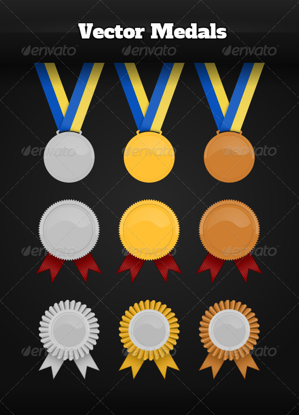 GraphicRiver Vector Medals 6734833