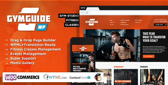 Gym Guide - Fitness Sport Wordpress Theme - Health & Beauty Retail