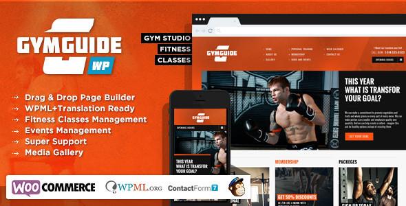 ThemeForest Gym Guide Fitness Sport Wordpress Theme 6734928