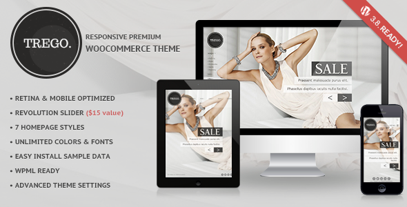 ThemeForest Trego Ultimate Responsive Woocommerce Theme 6666729