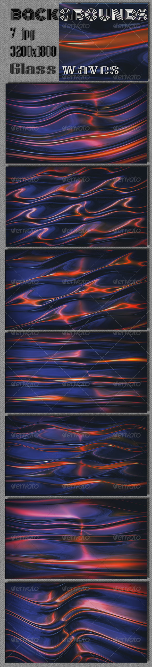 GraphicRiver Glass Waves Backgrounds 6735100