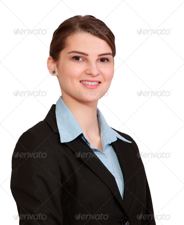 Portrait of a Smiling Woman - Stock Photo - Images