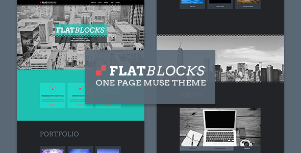 Flatblocks - One Page Muse Theme - Creative Muse Templates