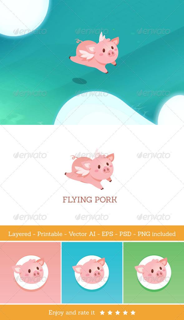 GraphicRiver Flying Pork 6735142