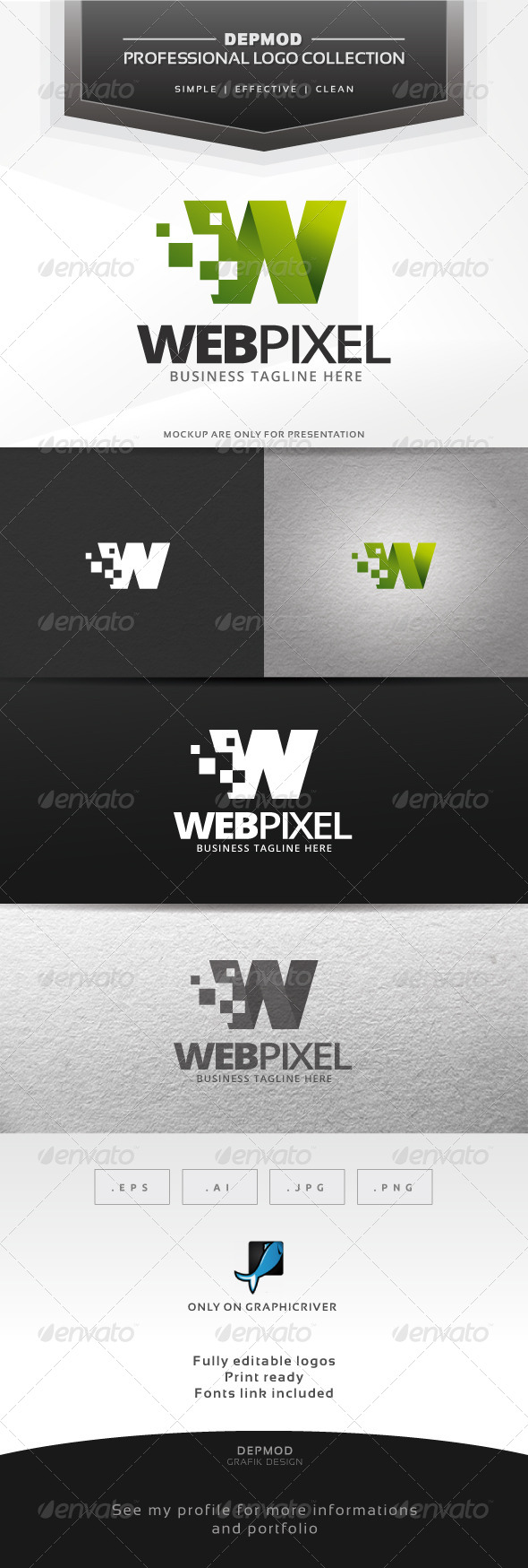 GraphicRiver Web Pixel Logo 6735209