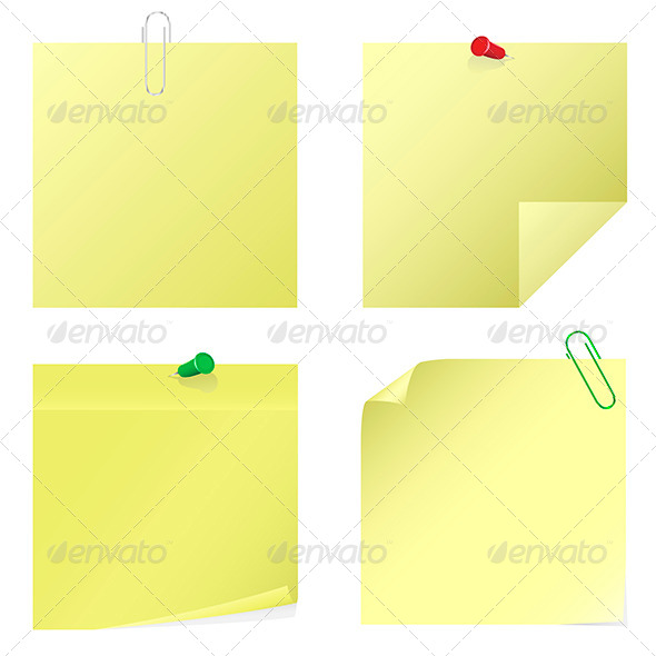 GraphicRiver Yellow Notice Stickers 6735314