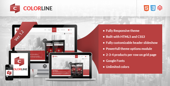 Colorline - Responsive Magento Theme - Magento eCommerce