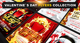Valentine`s Day flyers collection