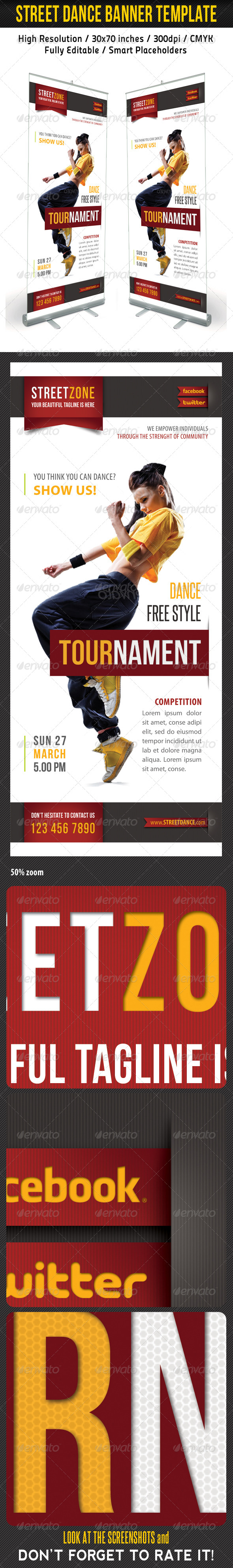 Dance Banner Template 02 - Signage Print Templates