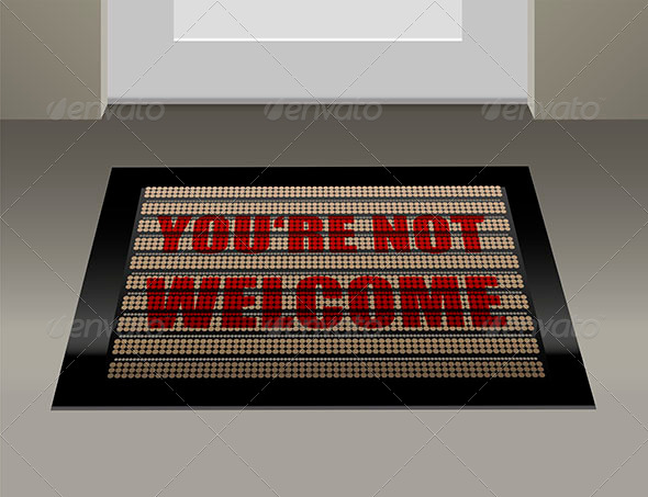 GraphicRiver Doormat Not Welcome 6735503