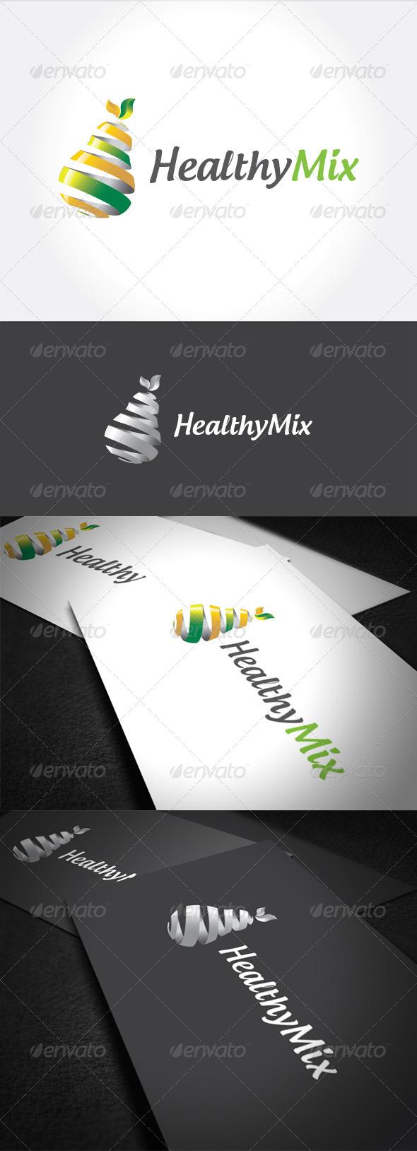 Healty Mix Logo Template
