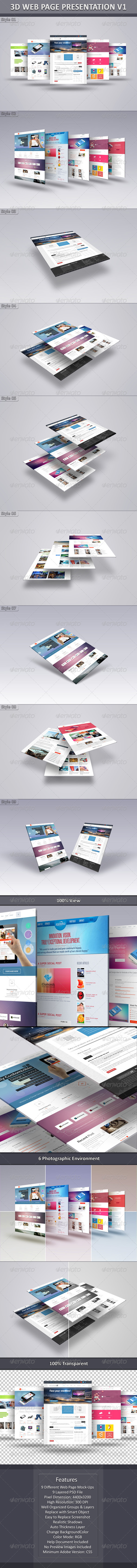 3D Web Page Presentation V1 - Graphics