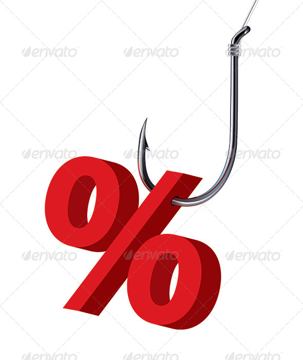 GraphicRiver Percent Sign on the Hook 6735653