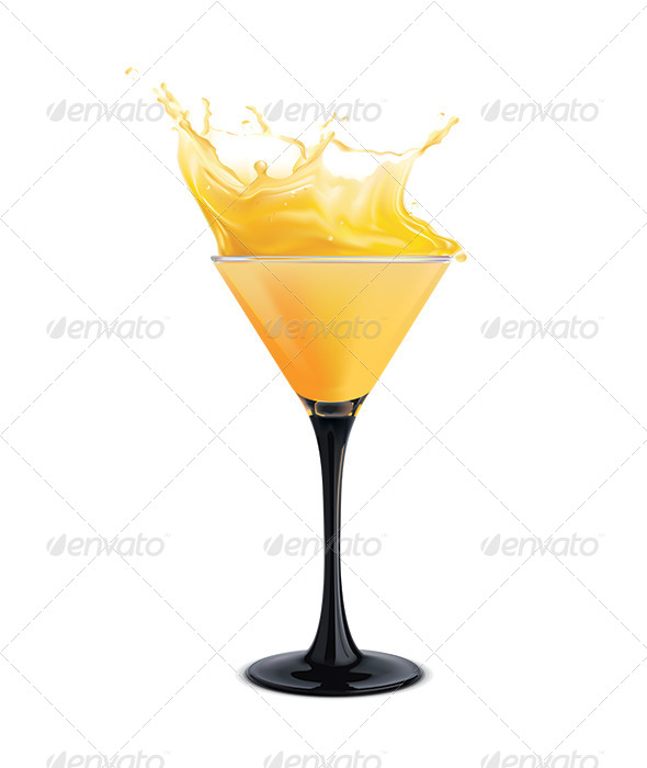 GraphicRiver Orange Cocktail with Splashes 6735700