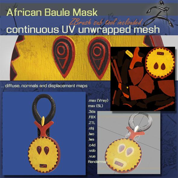 3DOcean African Baule Mask 6735711