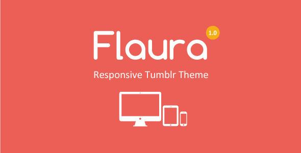 Flaura – Responsive Tumblr Theme (Tumblr) images