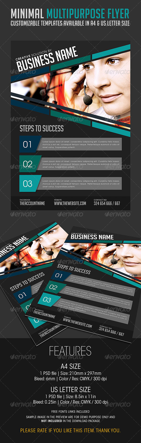 GraphicRiver Minimal Multipurpose Flyer 02 6735725