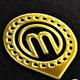 M, Locator Vector Logo Template