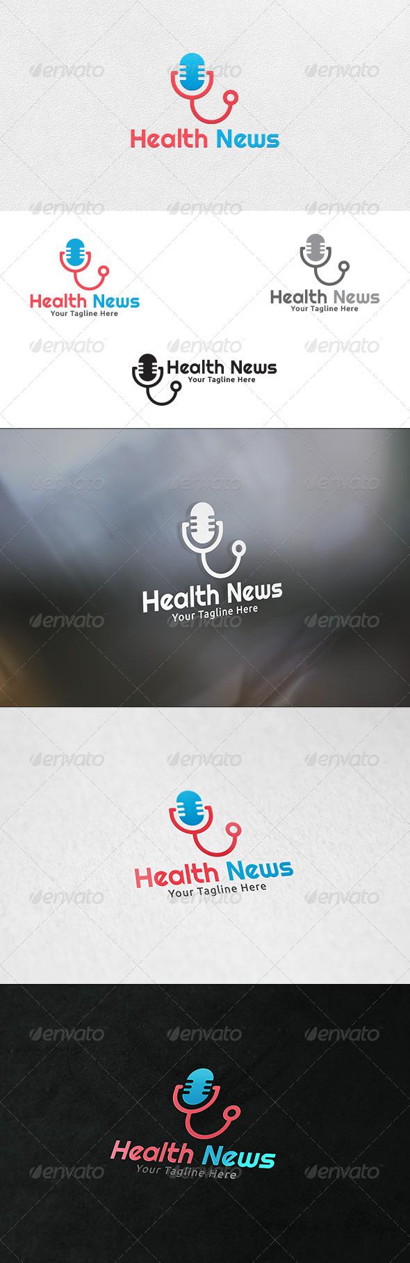 GraphicRiver Medical News Logo Template 6735730