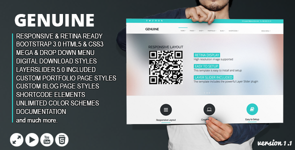 Genuine - Multi Purpose HTML5 Creative Template - Portfolio Creative