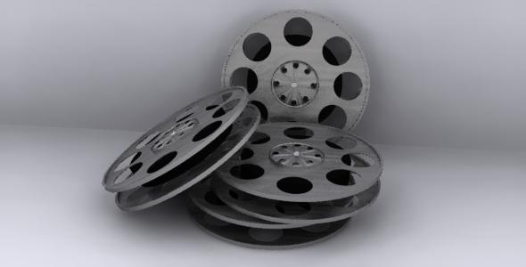 3D Film Reel Model - 3DOcean Item for Sale