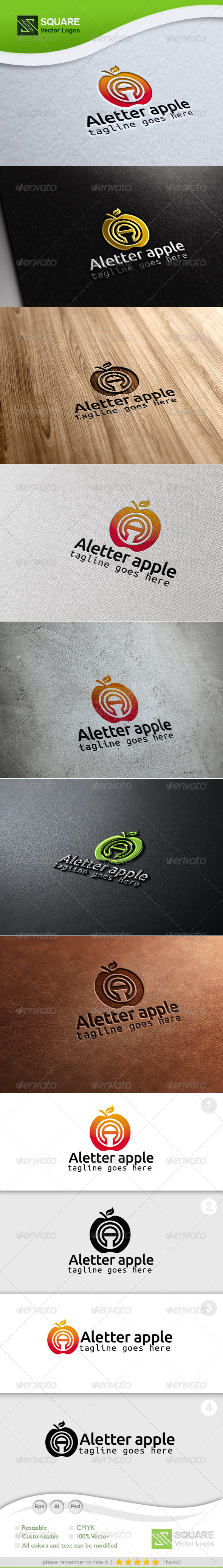 GraphicRiver A Apple Vector Logo Template 6735740