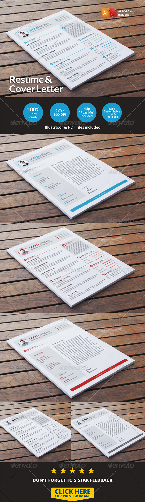 GraphicRiver Resume & Cover Letter 6735747