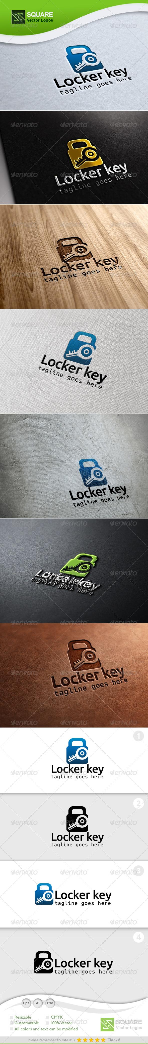 GraphicRiver Locker Key Vector Logo Template 6735748