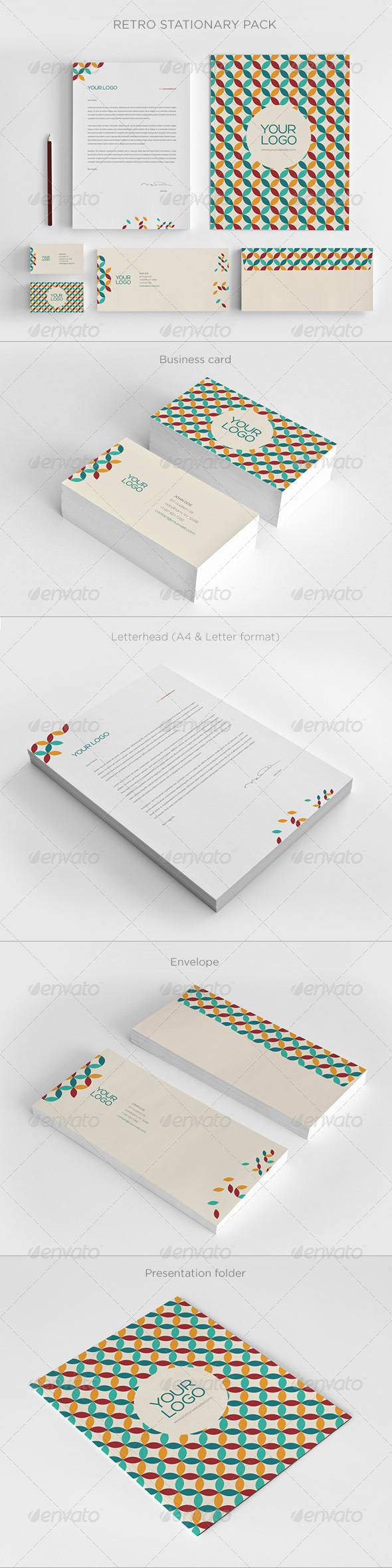 GraphicRiver Retro Stationary 6735752