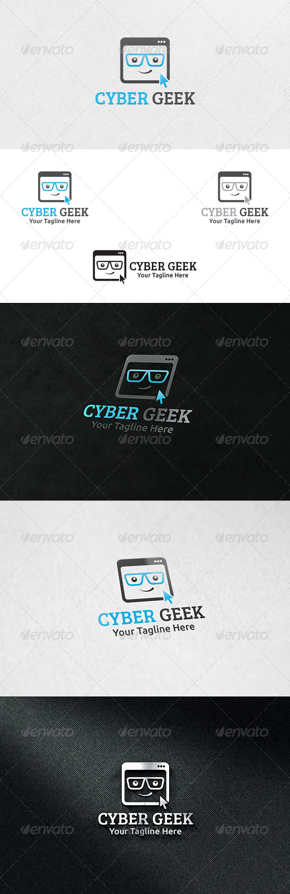 GraphicRiver Cyber Geek Logo Template 6736108
