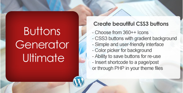 how to use html and css to create wordpress buttons
