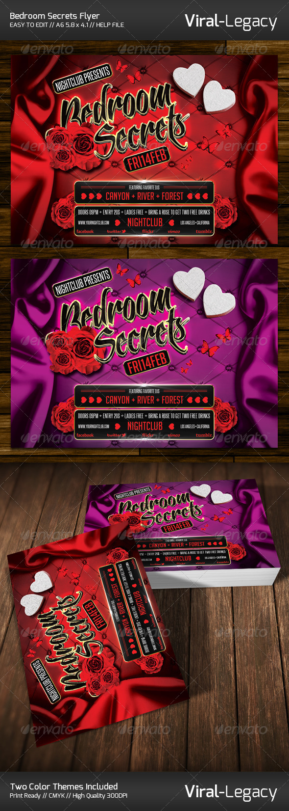 Bedroom Secrets Flyer - Events Flyers