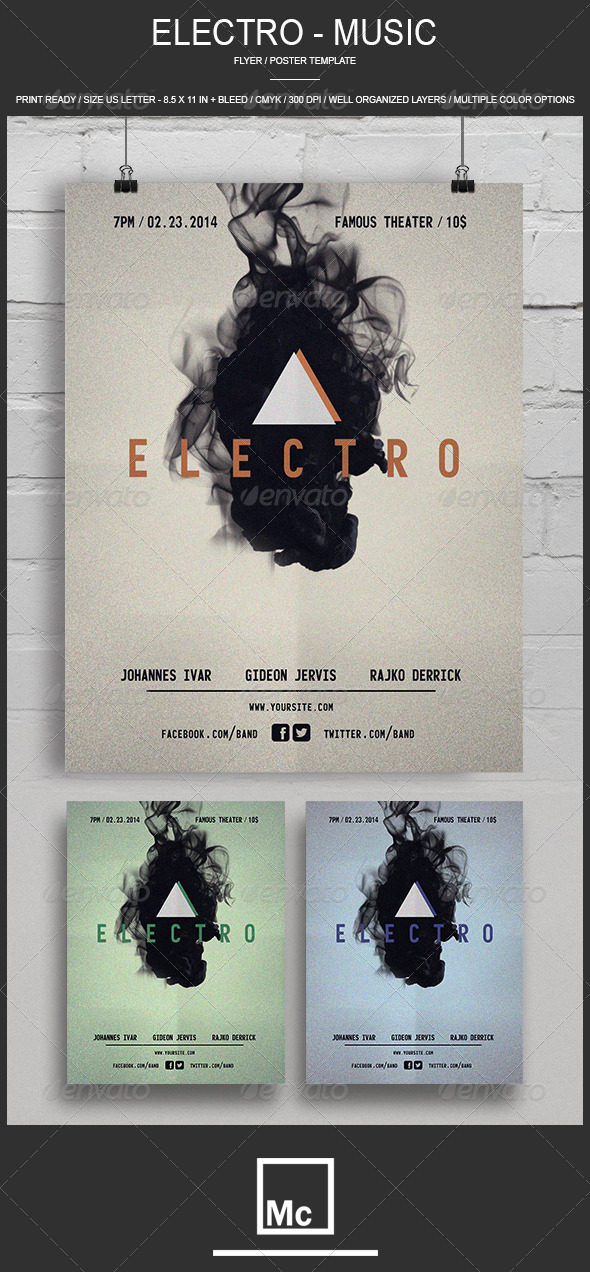 GraphicRiver Electro Music Flyer 6736480