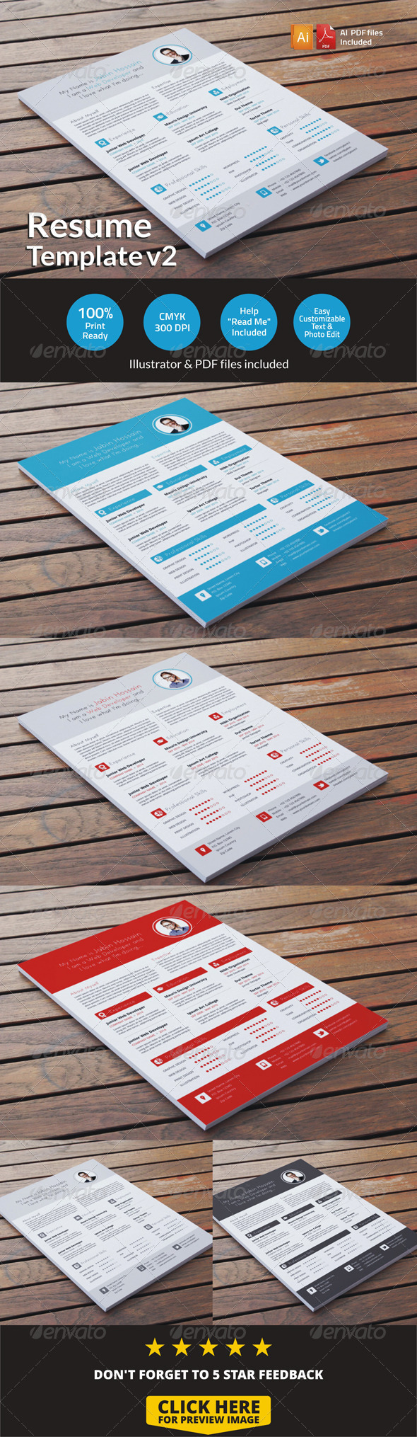 GraphicRiver Resume Template v2 6736856