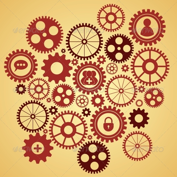 GraphicRiver Gears with Icons Inside 6736949