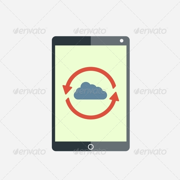 GraphicRiver Cloud Computing Tablet 6736954
